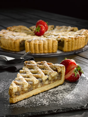 A portion of Applie and Mincemeat Lattice Pie